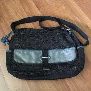 Black Canvas Key-per Messenger Bag
